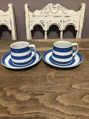 T G Green Cornishware Pair Of Cups & Saucers Judith Onions • 34.99£