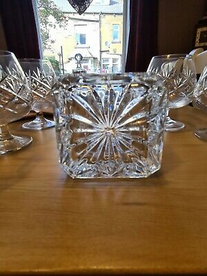 Cut Crystal Heavy Decanter And Six Brandy Glasses • 10£