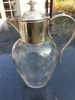 Silver Plate Mounted Claret Jug    • 0.99£