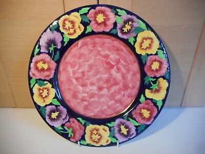 Maling Embossed Peony Border Rose Thumbprint Middle Pattern 6382 Plate Date 1937 • 35£