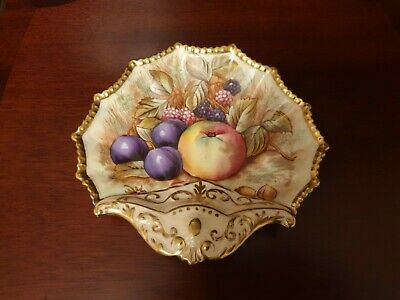 Vintage Aynsley England  Fruit Orchard  Hand Painted Candy Bowl/ Dish • 5.50£