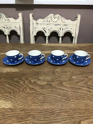 T G Green Domino 4x Cup & Saucer  • 9.99£