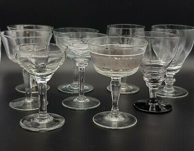 Nine Mixed Style Late 19th And Early 20th Century Drinking Glasses  • 9.99£