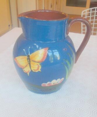 Vintage Royal Torquay Pottery Butterfly Large Jug Pitcher 7in Height • 9.99£