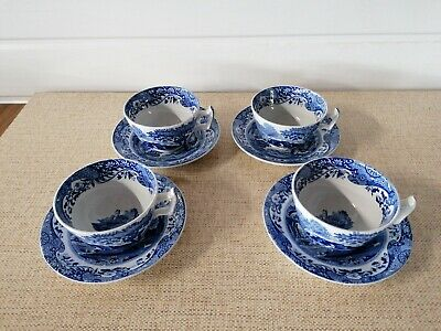 4 X Spode Italian Pattern Tea Cups And Saucers. • 35£