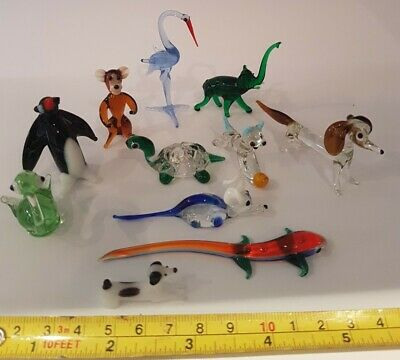 11 X Vintage Murano Glass Animals All Perfect Monkey Stork Elephant Penguin Ect  • 8.90£