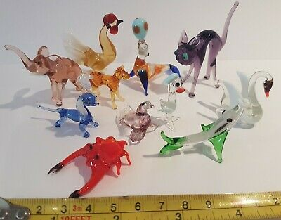 11 X Vintage Murano Glass Animals All Perfect Cockerell Seal Crab Elephant Ect  • 11.40£