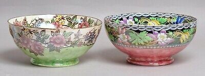 Two Excellent Antique Maling Lustre Pottery Bowls • 35£