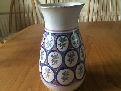 """Collard Honiton 6"""" Vase Eith Rare Stamped Pattern In Roundels • 15£"""