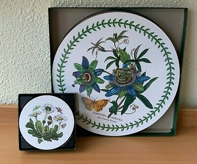 Portmeirion Botanic Garden Boxed Set Of 6  Round Place Mats And 6 Round Coasters • 17.50£