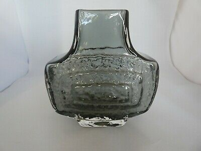 Vintage Whitefriars Glass Pewter TV Vase By Geoffrey Baxter • 125£