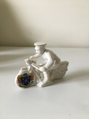 Arcadian Model Of A WW1 Despatch Rider - Crest Borough Of Reading • 95£