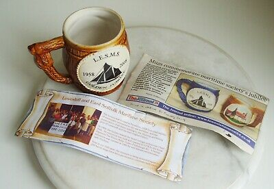 Great Yarmouth Pottery Mug  L.E.S.M.S. GOLDEN JUBILEE LIMITED TO 200 MADE • 8£