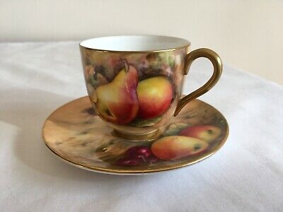 Antique Royal Worcester Hand Painted Fruit Cup & Saucer Signed W.J Bagnall 1896 • 9.99£