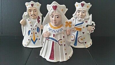 H J Wood - King, Queen And Knave Of Hearts Ceramic Jugs • 35£