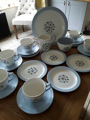 Copeland Spode England Hamilton Tea Set Blue  Beautiful  Condition  • 9.99£