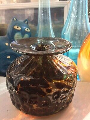 Beautiful Mdina Tortoise Shell Vase 12cm • 8£