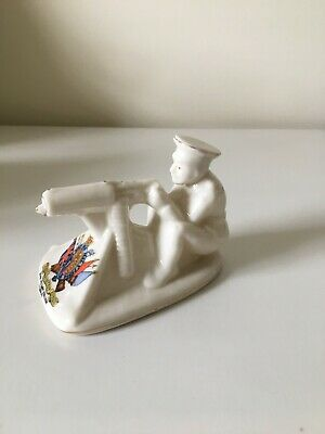 Arcadian WW1 Model Of  Tommy And His Machine Gun  Crest RMC Camberley • 65£