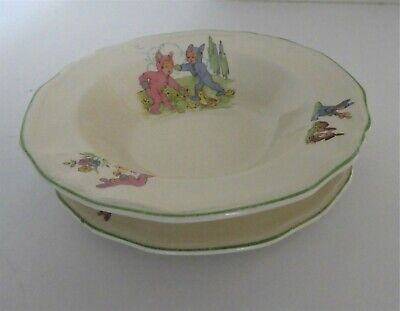 1950s Alfred Meakin Pixie Ware Nursery Bowl And Plate • 18£