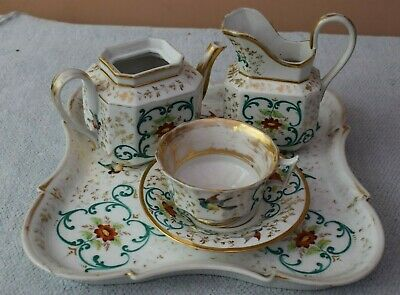Royal Worcester Breakfast Tray, Cup, Saucer, Milk Jug And Teapot - Birds C1906 • 50£
