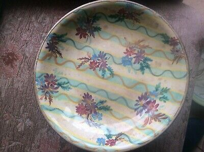 Denby Colledge Signed Footed Bowl Flower Pattern • 0.99£