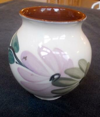 Vintage Holkham Pottery Vase Hand Painted Flowers  3.5in  Ht. • 4.99£