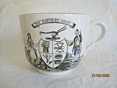 Gray's Pottery Large Breakfast Cup  The Farmer's Arms, God Speed The Plough • 4.99£