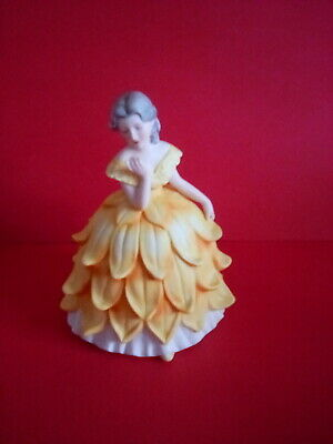 Franklin Porcelain 'dolores' The Lady Chrysanthemum Figurine 1985 • 5£
