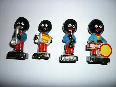 Robertson's Jam Hand Painted Pottery Models Featuring 4 Different Musicians. • 200£