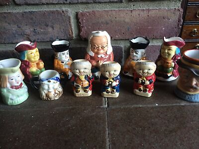 Job Lot Small Unmarked Toby Jugs • 14.50£