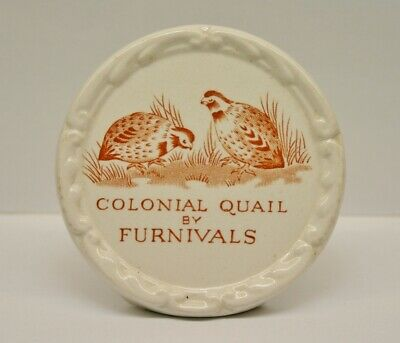 Vintage  Colonial Quail By Furnivals Advertising Display Sign Shop Dealer Plaque • 29.99£