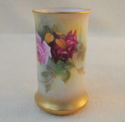 Immaculate ! Antique Royal Worcester Hand Painted Roses  Vase # 2510 • 27.91£