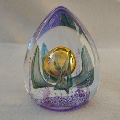Scottish Caithness Limited Edition 750 Crystal Glass Paperweight : Amber Gamble • 19.11£