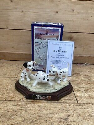 New Patch Rolly Freckles Dm5 Limited 101 Dalmations Disney Royal Doulton Nib • 29.99£