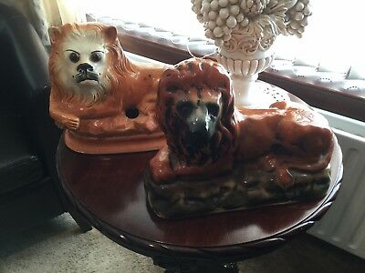 Pottery Lions From Bo,Ness . Item 0120. • 25£