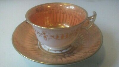 19th Century Cup And Saucer.possibly Old Paris,coalport Etc.fine Decoration And • 10£