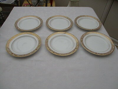 Bhs British Home Stores Regency 6 Salad Plates Very Good Used Condition • 7.99£
