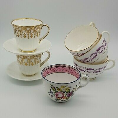 Six Mixed Antique Cups  • 9.50£