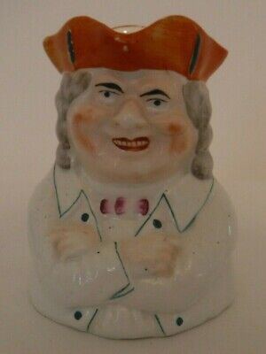 Rare Victorian Staffordshire Toby Jug Crossed Arms And Orange Tricor • 100£