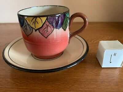 Watcombe Torquay Coloured Leaves Cup/ Saucer Very Good • 0.99£