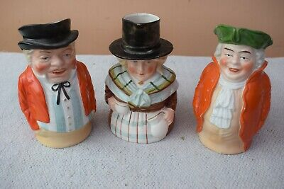 Vintage 6  Welsh Lady &  2 Traditional Toby Jugs • 10£