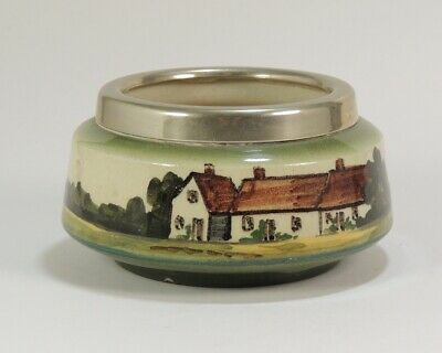 Small Watcombe Torquay Pottery Bowl With Epns Rim • 4.99£