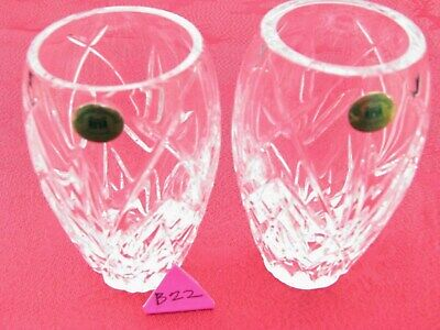 IRISH TYRONE CRYSTAL  1st QUALITY 2 SMALL VASES CENTREPIECE  OTHERS LISTED • 9.95£
