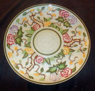 Vintage Charlotte Rhead H.j. Wood 16in Hand Painted Green Indian Tree Charger • 49.99£