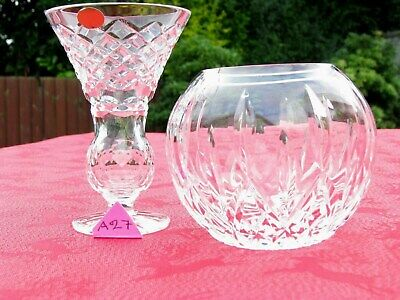 IRISH TYRONE CRYSTAL VASE  & BOWL 1st QUALITY CENTREPIECE  OTHERS LISTED • 11.95£
