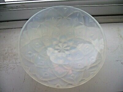 Antique Andre Hunebelle Opalescent Geometric Glass Bowl Art Glass Sabino Lalique • 5.93£