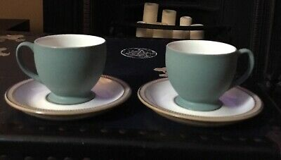 Denby Luxor - 2 Tea Cups And Saucers • 4.50£