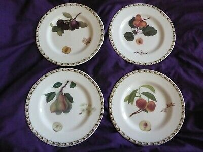 Queens Hookers Fruit 4 X Fine China 16cm Tea Side Plates • 12£