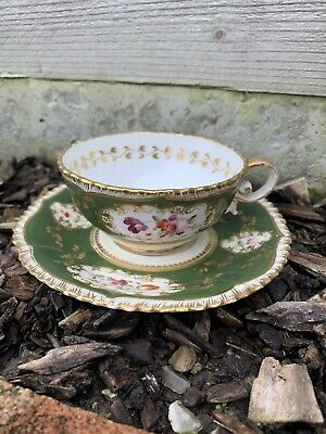 Antique Pembroke Coalport Duo Cup And Saucer Vintage    AF • 0.99£