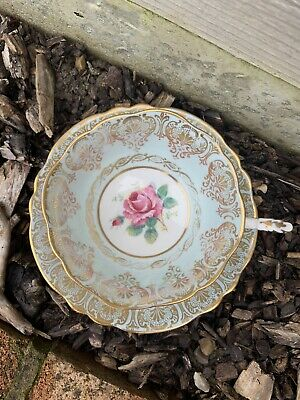 Paragon Cabbage Rose Blue Duo Vintage Cup And Saucer Antique AF • 5£